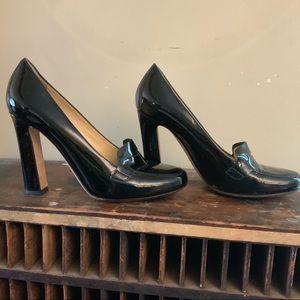 Kate spade classic black pattern leather pump 10